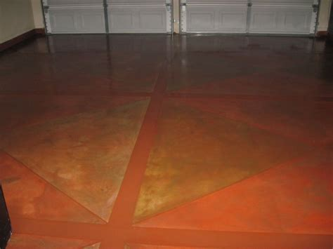can a concrete floor that has been stained be painted with epoxy paint