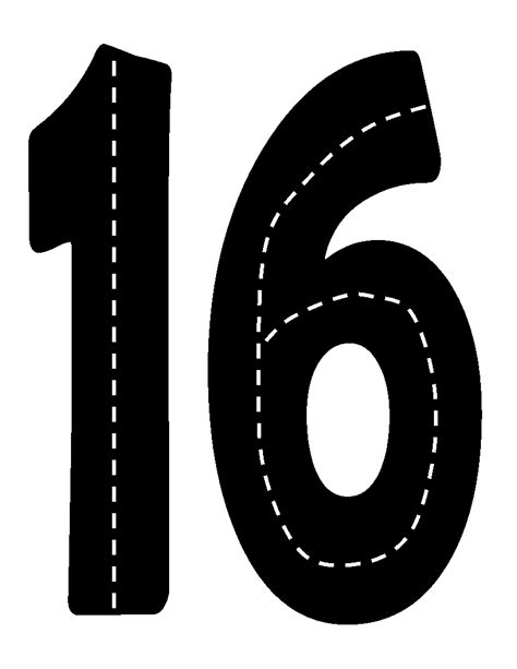 printable road printable road numbers learning numbers pinterest