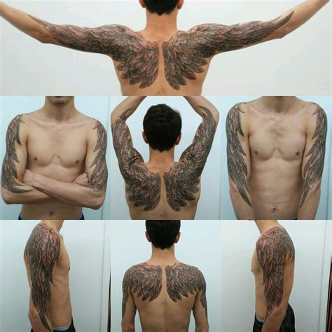tattoo nightmares you ve got male angel wings done by adrian at vince s nightmare miami