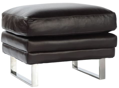 leather upholstery melbourne melbourne dark chocolate leather ottoman from lazzaro wh