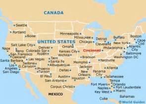 cincinnati in us map cincinnati maps and orientation cincinnati ohio oh usa