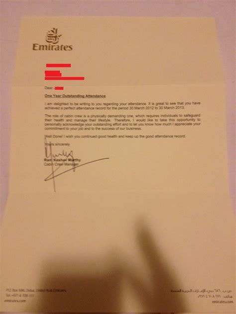 End Of Service Letter Uae Anoma Manuel About Emirates Airline Management