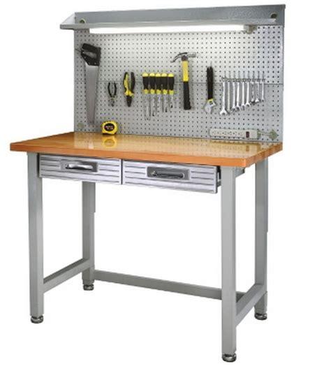 New Steel Frame Wood Top Work Bench Workbench Built In Workbench Lighting Fixtures