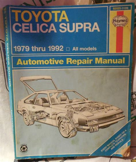service manual hayes car manuals 1992 toyota supra head up display service manual hayes auto buy haynes 1979 1992 toyota celica supra repair manual