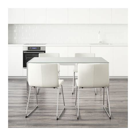 Ikea Glass Dining Tables Torsby Bernhard Table And 4 Chairs Glass White Kavat White 135 Cm Ikea