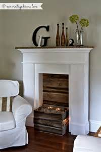 kamin imitat our vintage home faux fireplace