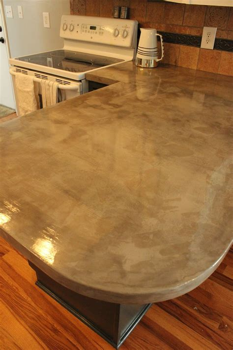 Diy Concrete Kitchen Countertops A Step By Step Tutorial Diy Kitchen Countertops