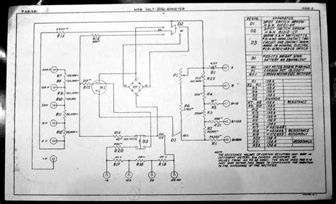 volt ohm meter wiring diagram components