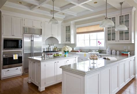 Coffered Ceiling In Kitchen by Accolades Oak Shadows Construction