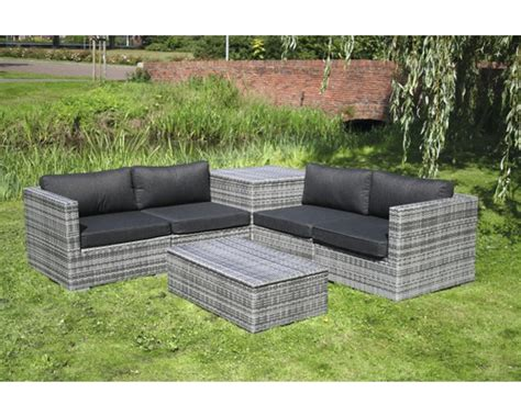 polyrattan sofa mit stauraum loungeset madrid polyrattan 4 sitzer 6 teilig grau bei