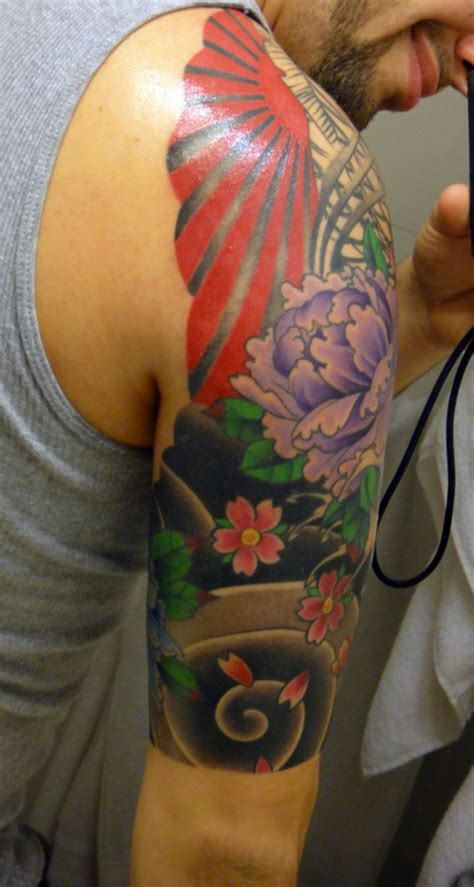 tattoo japanese sun peony and rising sun tattoo picture at checkoutmyink com