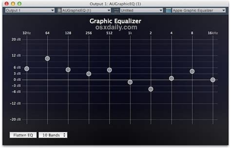 Eq Mp3 Vinyl Sound - create an equalizer for all audio in mac os x