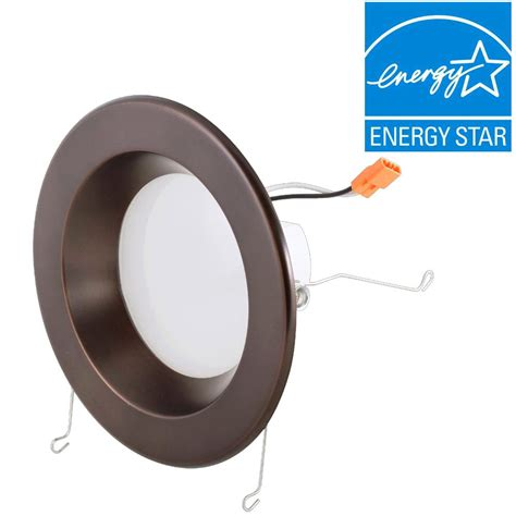 6 led recessed lighting 4000k envirolite 6 in bronze integrated led recessed ceiling