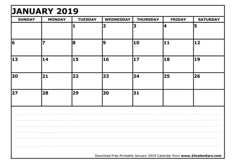 printable calendar january 2019 january 2019 calendar printable