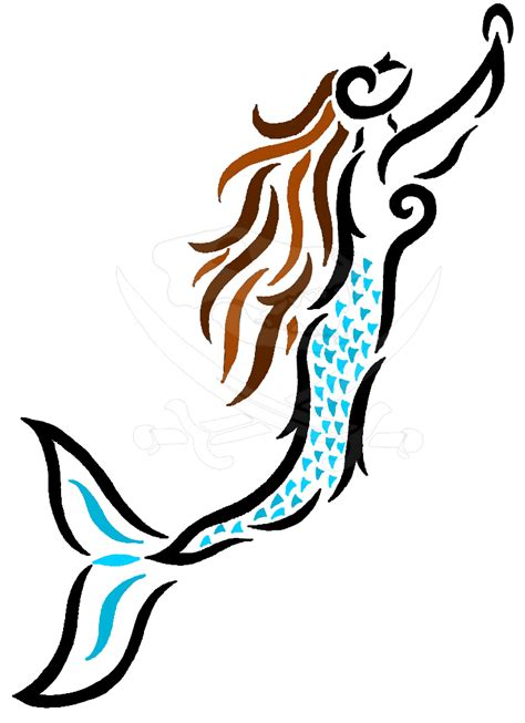 mermaid tribal tattoo tribal mermaid by pleisarpup on deviantart
