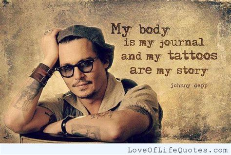 my lyrics johnny depp johnny depp quote on tattoos and his http www