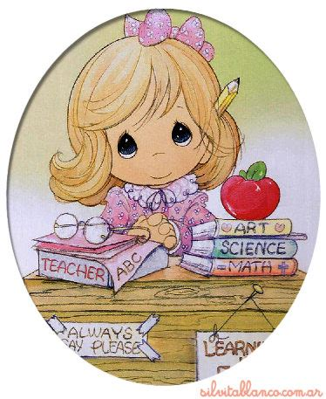 dibujos tiernos maestras imagui serie maestras profesores precious moments tamano