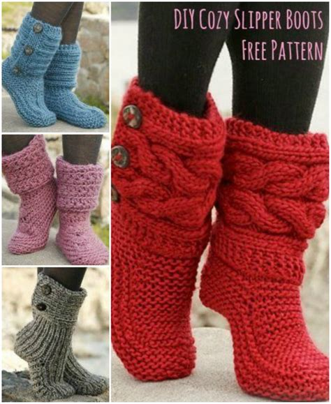 how to make knitted slippers knitted slipper boots the whoot