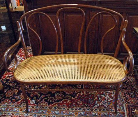 cane seat bench thonet style cane seat bentwood bench