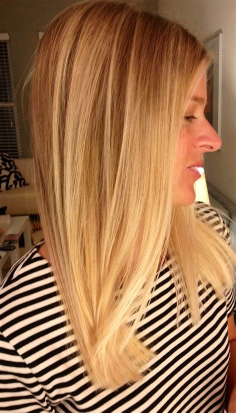 blonde balayage highlights straight hair blonde hair balayage got long hair pinterest