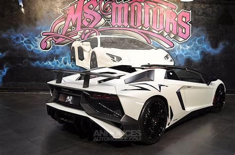 lamborghini aventador sv roadster occasion lamborghini aventador roadster 6 5 v12 lp 750 4 sv blanc mat occasion 224 cannes 6 alpes