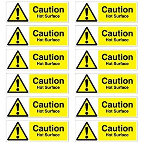 Naco Label Sticker Pack Snow caution surface warning stickers pack of 12 50mm x