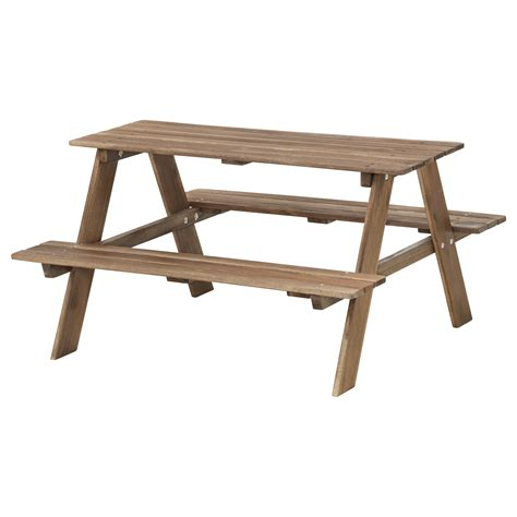 ikea childrens table res 214 children s picnic table grey brown stained ikea
