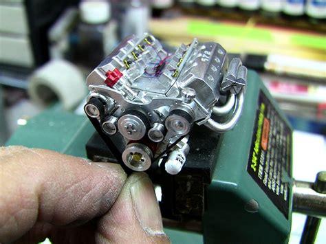 working mini v8 engine kit a scratchbuilt aluminum hemi engine in 1 24 scale