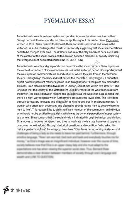 Pygmalion Essay by Hsc Essay Pygmalion Year 11 Hsc