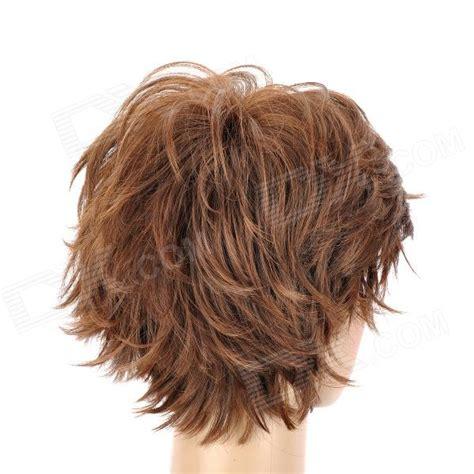 slightly curly hair 8168 2 30 fashion man s slightly curly short hair wig