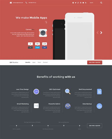 flat psd template 65 flat psd website templates web graphic design