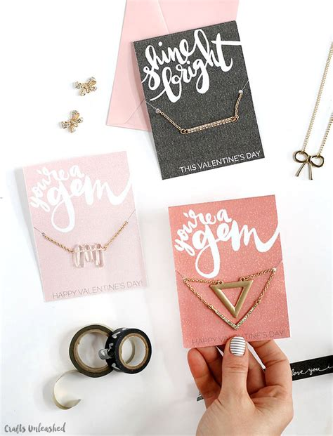 Printable Valentines: Glitter Jewelry Gift Holders