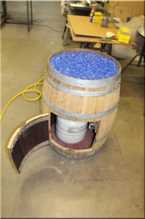 Deep Blue Crushed Tempered Glass For Fire Pits Fireplaces