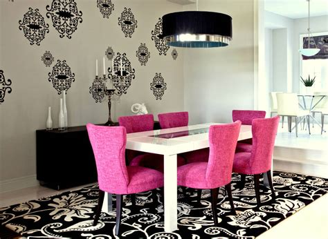 Pink Dining Room Chairs Interior And Files Pretty In Pink