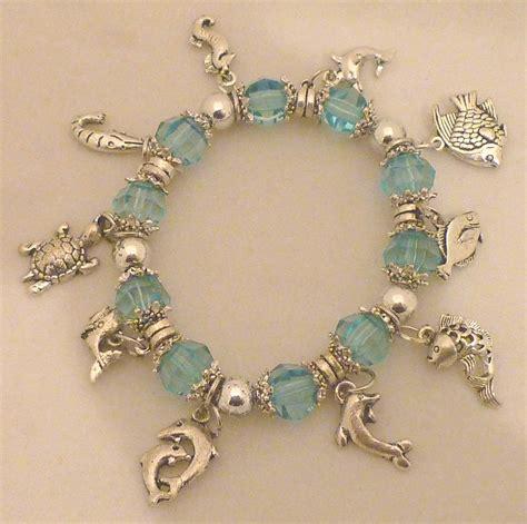 charm bracelet blue dolphin fish turtle sea charm bracelet ebay
