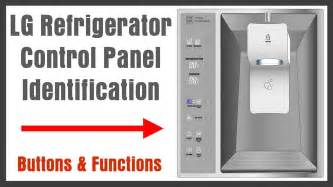 French Door Fridge With Ice And Water Dispenser - lg refrigerator control panel display identification buttons and functions us3