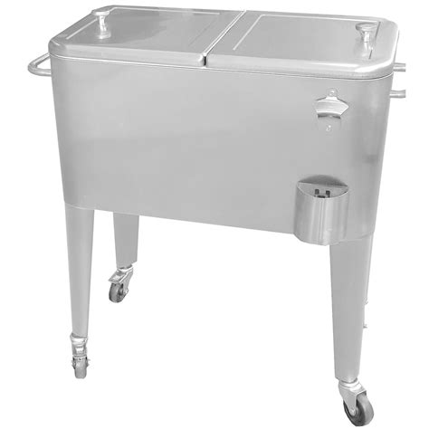 oakland living 20 gallon patio cooler cart with insulated