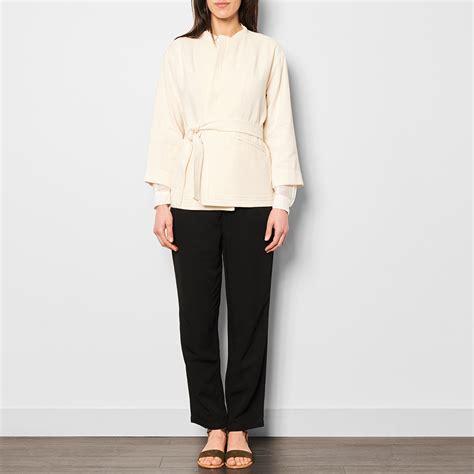 Linen Cotton Jacket cotton and linen kimono jacket ecru pomand 232 re fashion