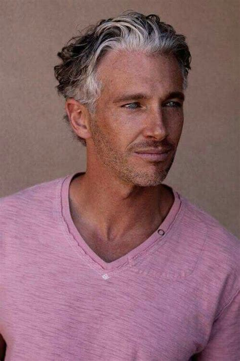 hairstyles for men in their twenties with grey hair older men s hairstyle via jo s style s page on facebook
