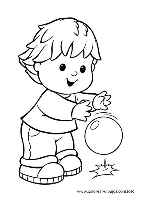 imagenes para pintar para niños image gallery ninos jugando para colorear