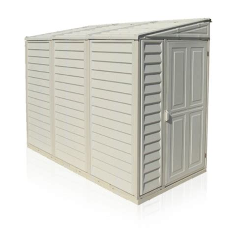 sidemate 4x8 vinyl shed 1220mm x 2420mm x 1855mm with