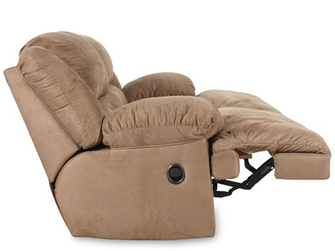 microfiber contemporary sofa contemporary microfiber 96 quot reclining sofa in mocha