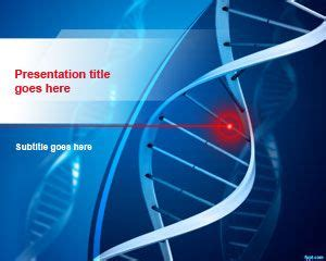 Free Dna Structure Powerpoint Template Dna Powerpoint Template