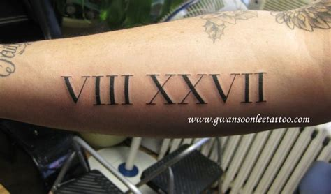 roman numeral forearm tattoo numerals on armgwan soon