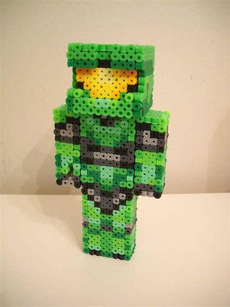 minecraft perler halo quot master chief quot 3d perler minecraft skin perler