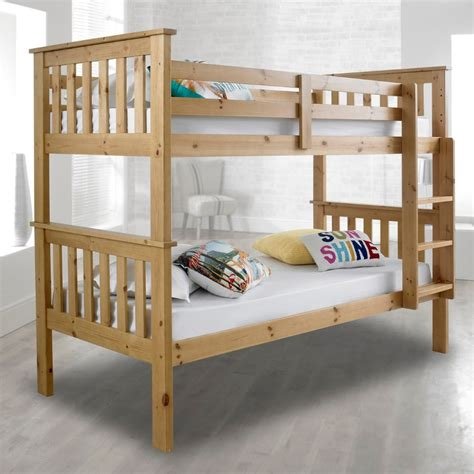 Solid Pine Bunk Bed With Desk by Atlantis Solid Pine Wooden Bunk Bed