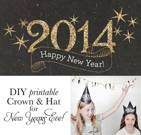 Printable New Year S Crown | diy new year s eve hat and crown printable