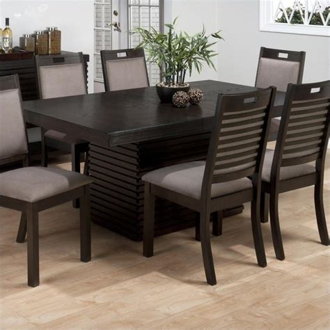 Sensei Oak Rectangle 7 Dining Set 588 72b 588 72t 6x588 243kd Decor South Jofran Rectangle Dining Table With Extension Leaf In Sensei Oak 588 72 Kit