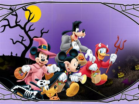 halloween mickey mouse  minnie mouse goofy donald duck pluto disney halloween wallpaper