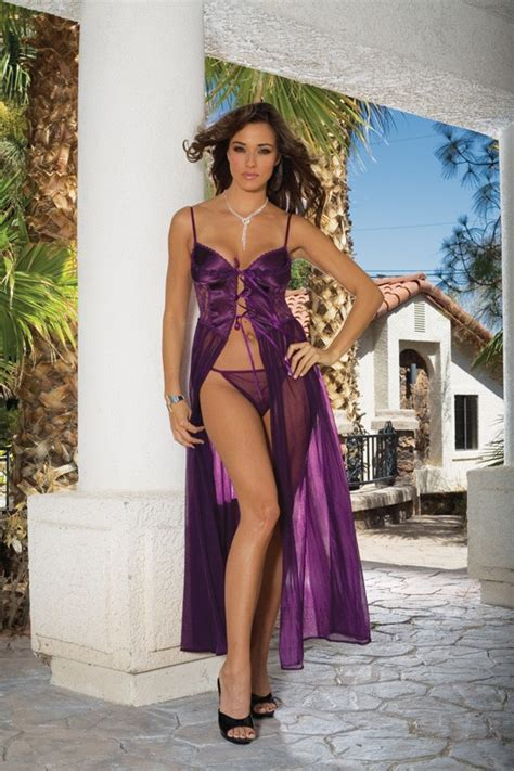 my 5 favorite sheer long gowns the lingerie addict flyaway sheer lace satin full length long gown nightgown